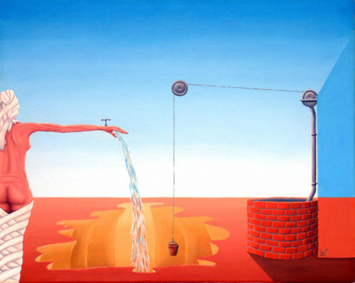 Watersnood 1986 ( 40x50 cm )