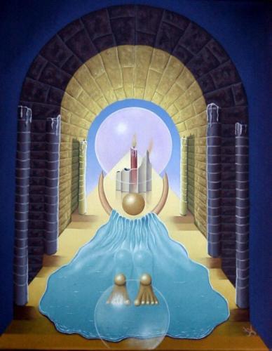 Antropomorfischtische aanbidding van de vlam   2002 ( 50x40 cm )/Antropomorphic worship of the flame   2002 ( 50x40cm )
