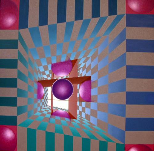 2002 - De psycho-analyse ontdekt     ( 80 x 80 cm )/Discovered psychoanalysis