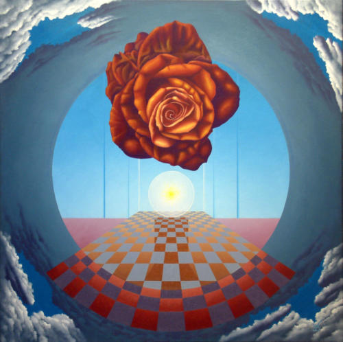 2004 - Het mysterie achter de roos  ( 80x80 cm )/The mystery behind the rose