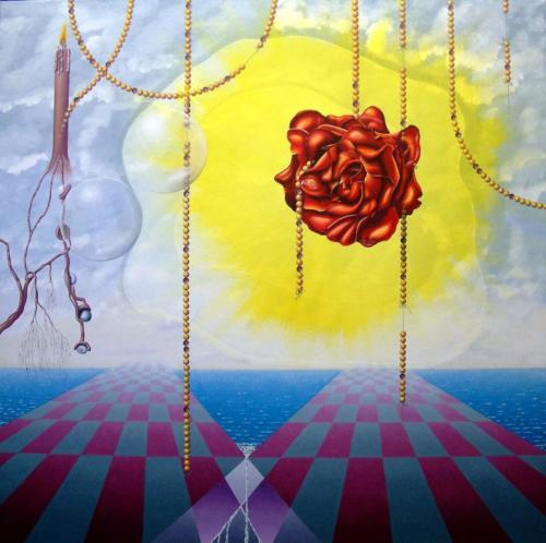 2012 - Sfeerlijke transitoir ( 80x80 cm )/Ornate transitoiry