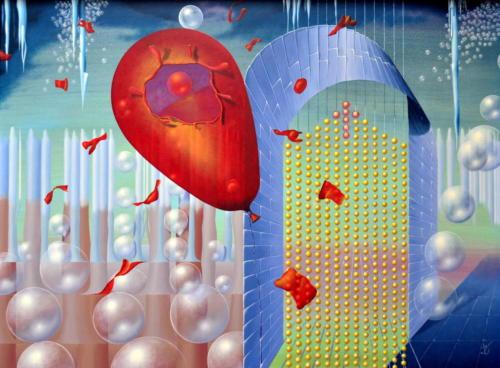 2013 - De ballon is geklapt ( 60x80 cm )/The balloon is popped