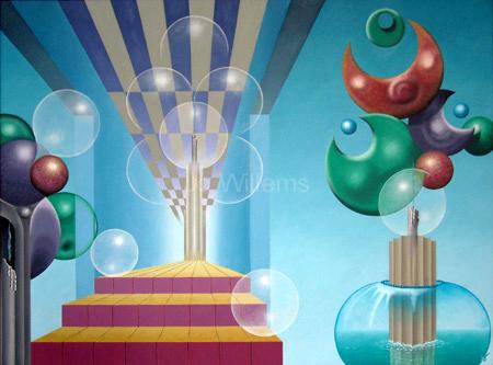 2002 - surrealistische sculpturen met gedoofde kaarsen    ( 60x80 cm )/Surrealistic sculptures with extinguisht candles