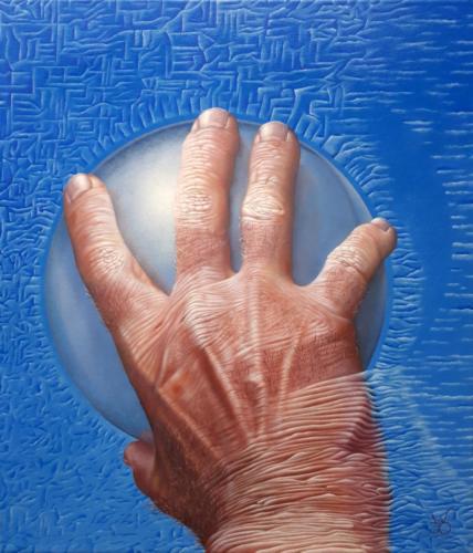 2018 - Vasthouden of loslaten    ( 35x30 cm )/Realsing or holding