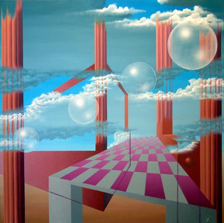 2003 - (v)luchtige architectuur      ( 80x80 cm )/Volatile architecture