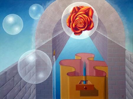 2004 - Een door mij geïnterpreteerde droom, erotisch gezien     ( 60x80 cm )/I interpreted by a dream, erotic seen